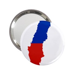 Flag Map Of Chile  2 25  Handbag Mirrors