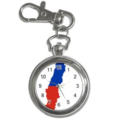 Flag Map Of Chile  Key Chain Watches by abbeyz71
