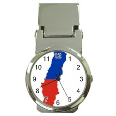 Flag Map Of Chile  Money Clip Watches