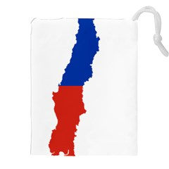 Flag Map Of Chile  Drawstring Pouches (xxl) by abbeyz71