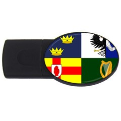 Four Provinces Flag Of Ireland Usb Flash Drive Oval (4 Gb)