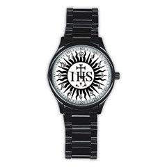 Society Of Jesus Logo (jesuits) Stainless Steel Round Watch by abbeyz71