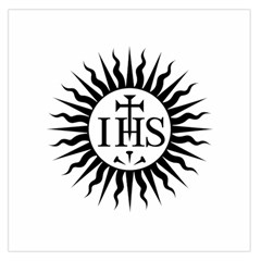 Society Of Jesus Logo (jesuits) Large Satin Scarf (square)