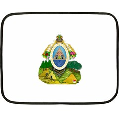 Coat Of Arms Of Honduras Fleece Blanket (mini)