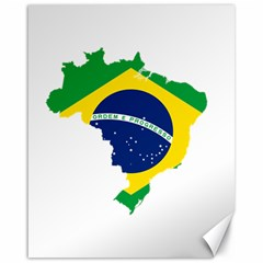 Flag Map Of Brazil  Canvas 16  X 20
