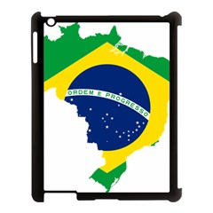 Flag Map Of Brazil  Apple Ipad 3/4 Case (black)