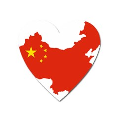 Flag Map Of China Heart Magnet by abbeyz71