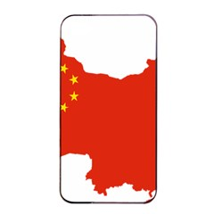 Flag Map Of China Apple Iphone 4/4s Seamless Case (black)