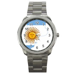 Flag Map Of Argentina Sport Metal Watch