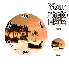 Wonderful Sunset Over The Beach, Tropcal Island Playing Cards 54 (round)  by FantasyWorld7