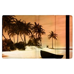 Wonderful Sunset Over The Beach, Tropcal Island Apple Ipad 3/4 Flip Case by FantasyWorld7