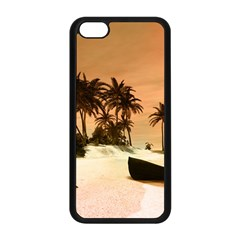 Wonderful Sunset Over The Beach, Tropcal Island Apple Iphone 5c Seamless Case (black) by FantasyWorld7