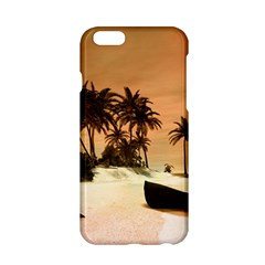 Wonderful Sunset Over The Beach, Tropcal Island Apple Iphone 6/6s Hardshell Case