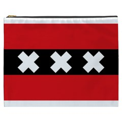 Flag Of Amsterdam Cosmetic Bag (xxxl)