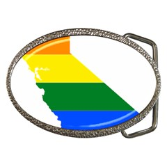 Lgbt Flag Map Of California Belt Buckles