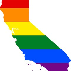 Lgbt Flag Map Of California Magic Photo Cubes by abbeyz71
