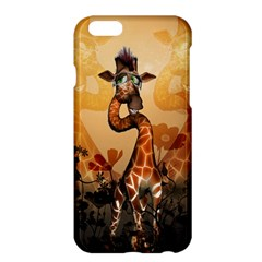 Funny, Cute Giraffe With Sunglasses And Flowers Apple Iphone 6 Plus/6s Plus Hardshell Case by FantasyWorld7