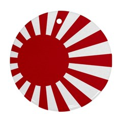 Ensign Of The Imperial Japanese Navy And The Japan Maritime Self Defense Force Round Ornament (two Sides)