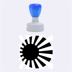 Ensign Of The Imperial Japanese Navy And The Japan Maritime Self Defense Force Rubber Round Stamps (medium) by abbeyz71