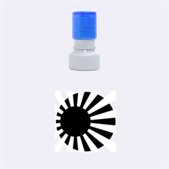 Ensign Of The Imperial Japanese Navy And The Japan Maritime Self Defense Force Rubber Round Stamps (small) by abbeyz71