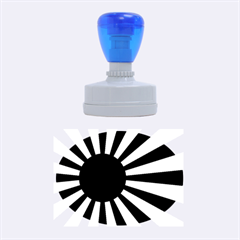 Ensign Of The Imperial Japanese Navy And The Japan Maritime Self Defense Force Rubber Oval Stamps by abbeyz71