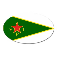 Flag Of The Women s Protection Units Oval Magnet