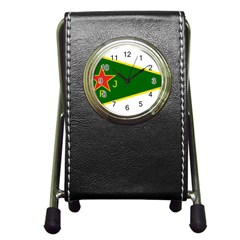 Flag Of The Women s Protection Units Pen Holder Desk Clocks by abbeyz71