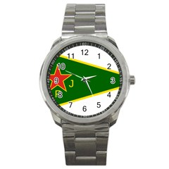 Flag Of The Women s Protection Units Sport Metal Watch
