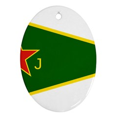 Flag Of The Women s Protection Units Oval Ornament (two Sides) by abbeyz71