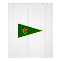 Flag Of The Women s Protection Units Shower Curtain 60  X 72  (medium)  by abbeyz71