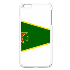 Flag Of The Women s Protection Units Apple Iphone 6 Plus/6s Plus Enamel White Case by abbeyz71