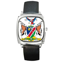 Coat Of Arms Of Namibia Square Metal Watch by abbeyz71