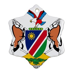 Coat Of Arms Of Namibia Snowflake Ornament (2 Side) by abbeyz71