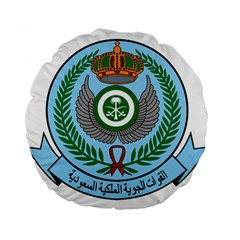Emblem Of The Royal Saudi Air Force  Standard 15  Premium Flano Round Cushions by abbeyz71