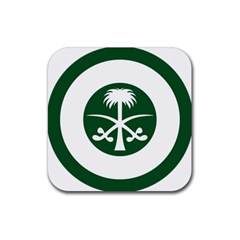 Roundel Of The Royal Saudi Air Force Rubber Coaster (square)  by abbeyz71