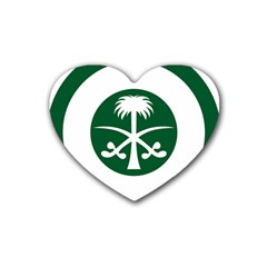 Roundel Of The Royal Saudi Air Force Rubber Coaster (heart)  by abbeyz71