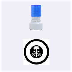 Roundel Of The Royal Saudi Air Force Rubber Round Stamps (small) by abbeyz71