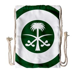Roundel Of The Royal Saudi Air Force Drawstring Bag (large) by abbeyz71