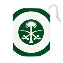 Roundel Of The Royal Saudi Air Force Drawstring Pouches (extra Large) by abbeyz71