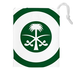 Roundel Of The Royal Saudi Air Force Drawstring Pouches (xxl) by abbeyz71