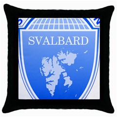 Coat Of Arms Of Svalbard Throw Pillow Case (black)