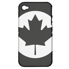 Low Visibility Roundel Of The Royal Canadian Air Force Apple Iphone 4/4s Hardshell Case (pc+silicone) by abbeyz71