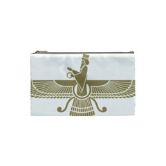 Stylized Faravahar  Cosmetic Bag (small)  by abbeyz71