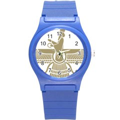 Stylized Faravahar  Round Plastic Sport Watch (s) by abbeyz71