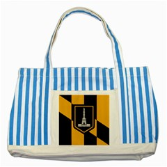 Flag Of Baltimore Striped Blue Tote Bag