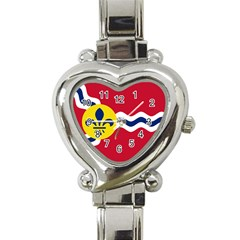 Flag Of St Heart Italian Charm Watch by abbeyz71
