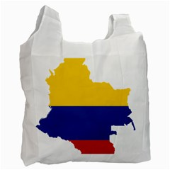 Flag Map Of Colombia Recycle Bag (one Side) by abbeyz71