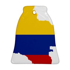 Flag Map Of Colombia Ornament (bell)