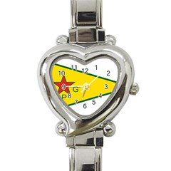 Flag Of The People s Protection Units Heart Italian Charm Watch by abbeyz71