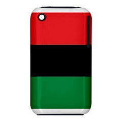 Pan African Flag  Apple Iphone 3g/3gs Hardshell Case (pc+silicone) by abbeyz71